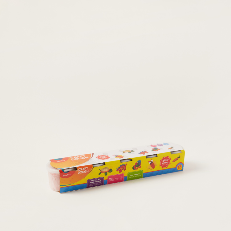 Juniors Glitter Craft Dough - Set of 5