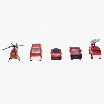 Welly Team Power 5-Piece Fire Vehicle Gift Set