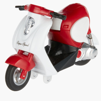 Tai Tung Pull-Back Motorcycle Toy