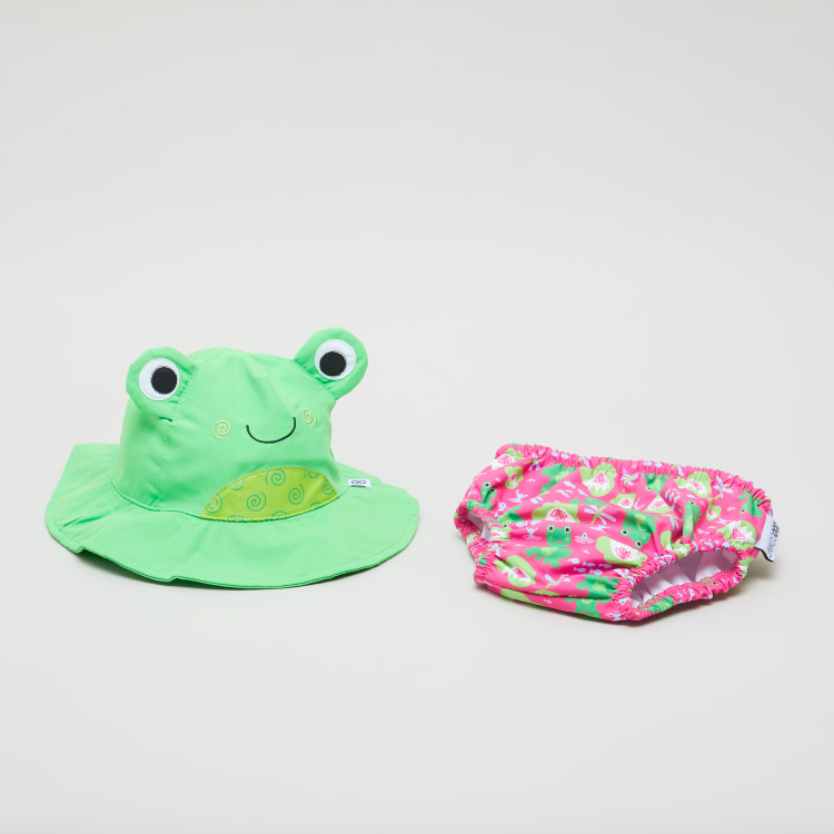 Zoocchini Frog Print Hat and Briefs