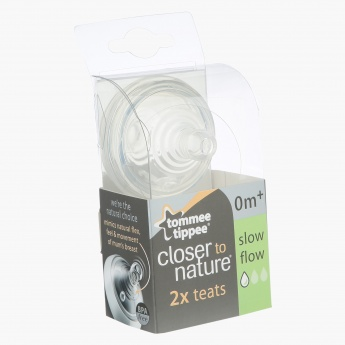 Tommee Tippee Closer To Nature Slow Flow Teat - Set of 2