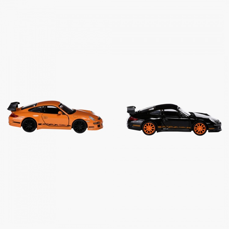 Welly 4.75 Pull Back Porsche GT3 RS Car - Set of 2