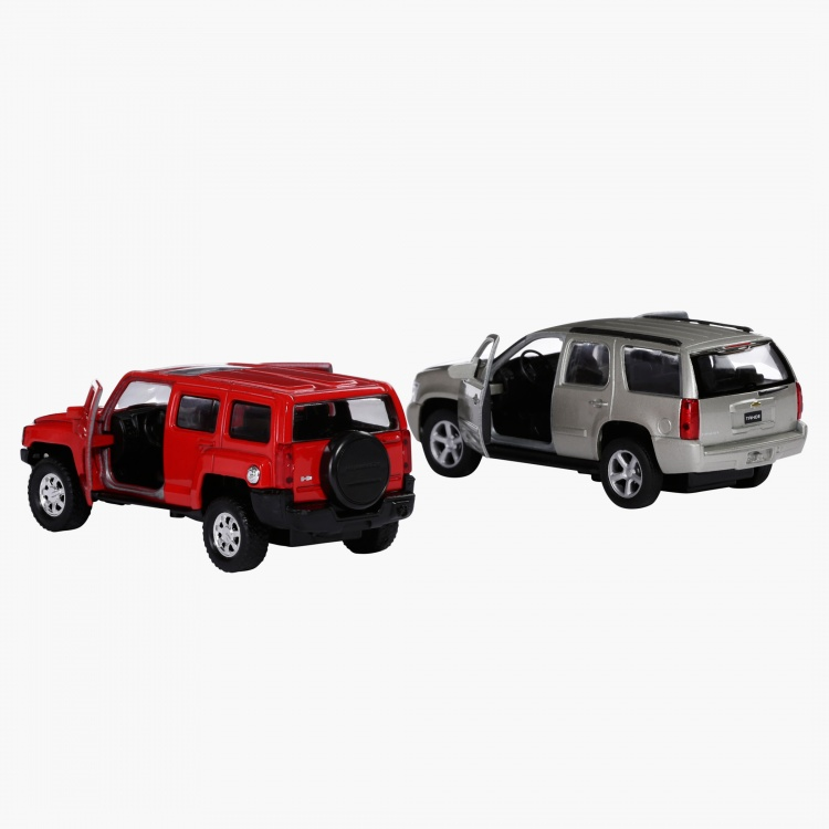 Welly 4.75 Pull Back Jeeps - Set of 2