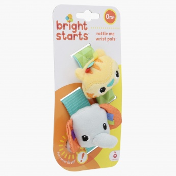 Bright Starts Plush Wrist Rattle Set