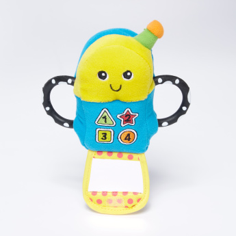 The First Years Peak-a-Boo Phone Plush Toy with Teethers