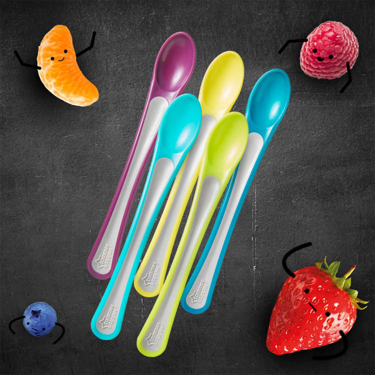 Tommee Tippee Explora 1st Weaning Spoon - Set of 5