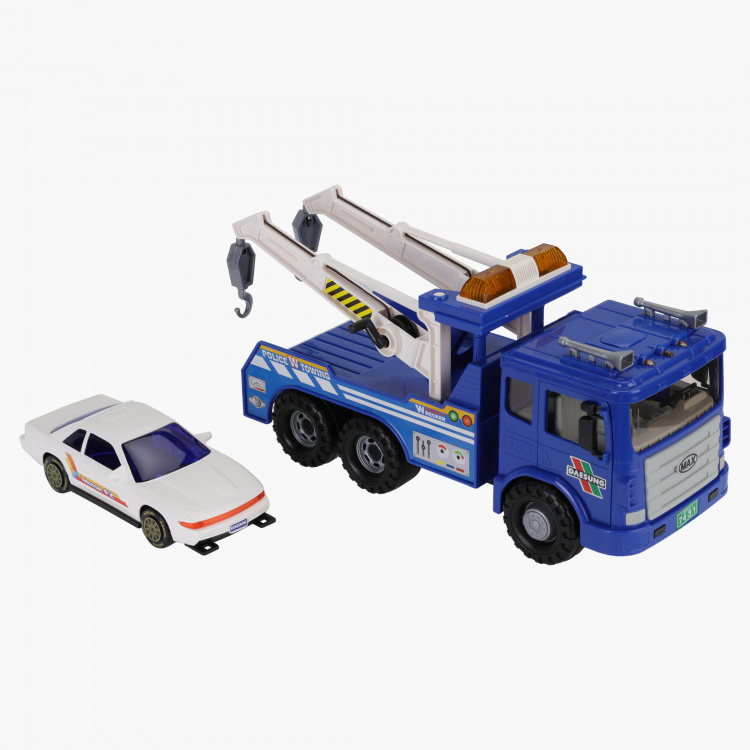 DSTOY Max Police Wrecker Car Toy