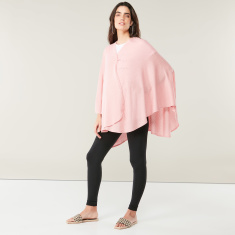 Bebitza Knit Wrap Poncho with Toggle Closure