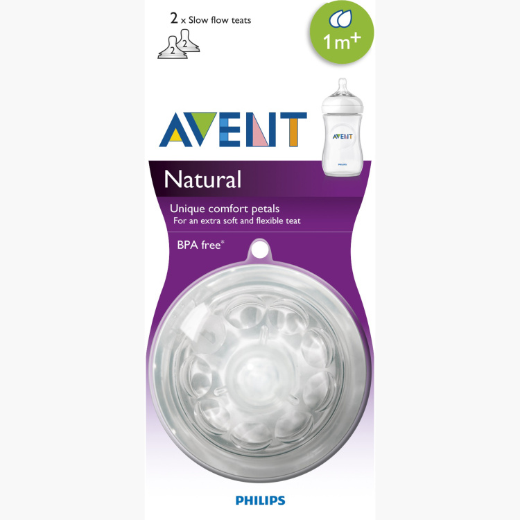 Philips Avent Natural Silicone Teat - Set of 2