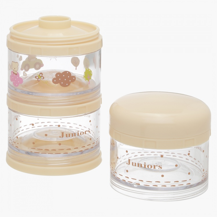 Juniors Milk Powder 3-Compartments Container