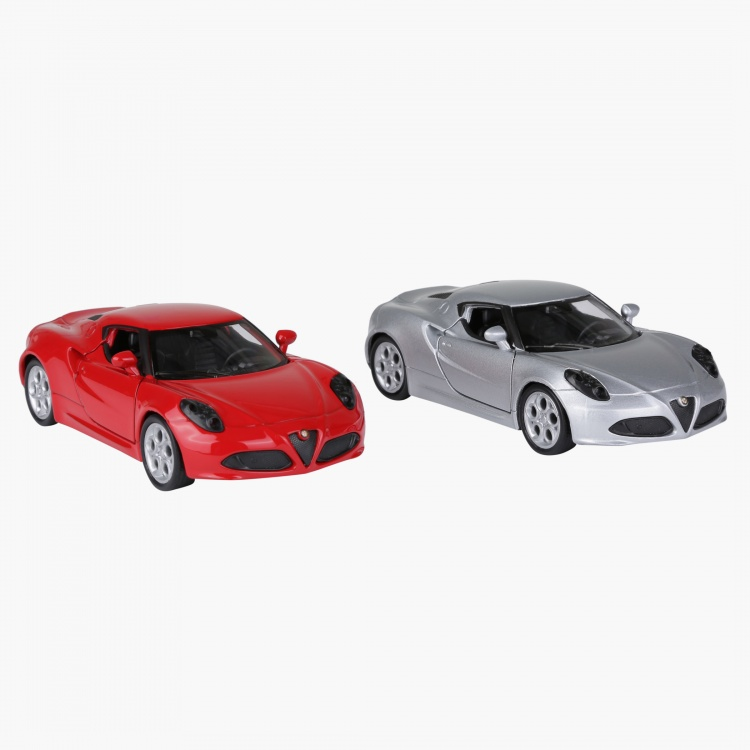 Welly Pull Back Twin Alfa Romeo 4C Car Pack