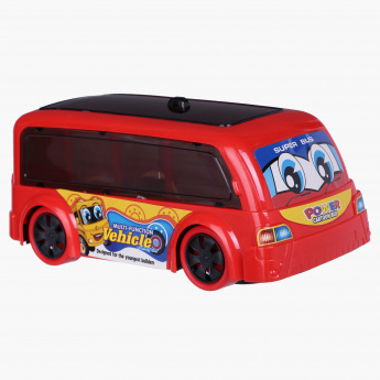 Juniors Power Cartoon Bus with Light and Sound