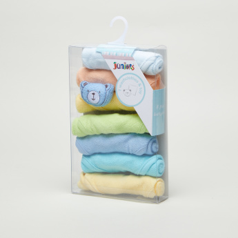 Juniors Textured 7-Piece Washcloth Set with Toy