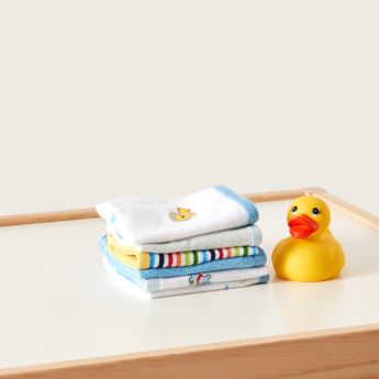 Juniors Printed Washcloth - Set of 6