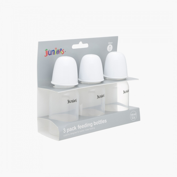 Juniors 120 ml Feeding Bottle - Set of 3