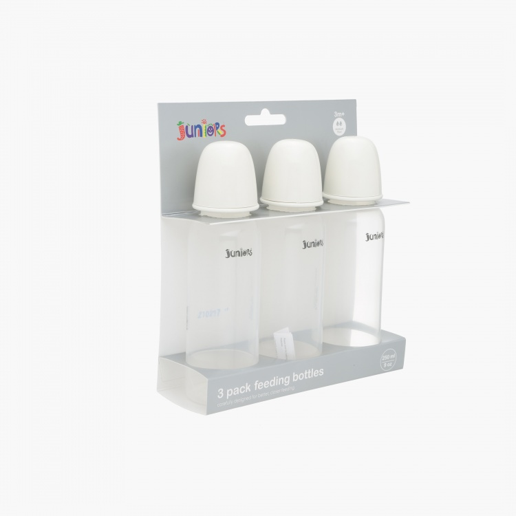 Juniors 250 ml Feeding Bottle - Set of 3
