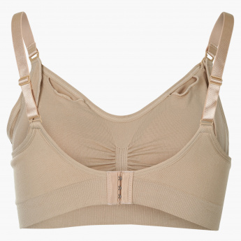 Spring Nursing and Maternity Bra with Adjustable Straps - L