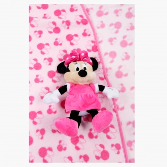 Minnie Mouse Printed Blanket and Plush Toy Set