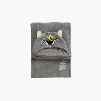 Tom and Jerry Embroidered Blanket with Hood