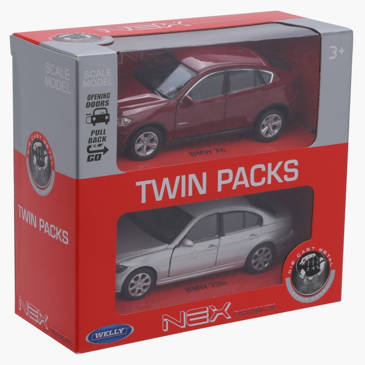 Welly Diecast BMW 330i Pull Back Twin Car Pack