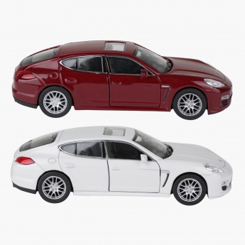 Welly Porsche Panamera Pull Back Diecast Twin Car Set