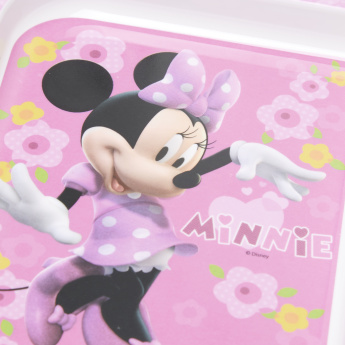 Minnie Mouse Printed 3-Section Plate