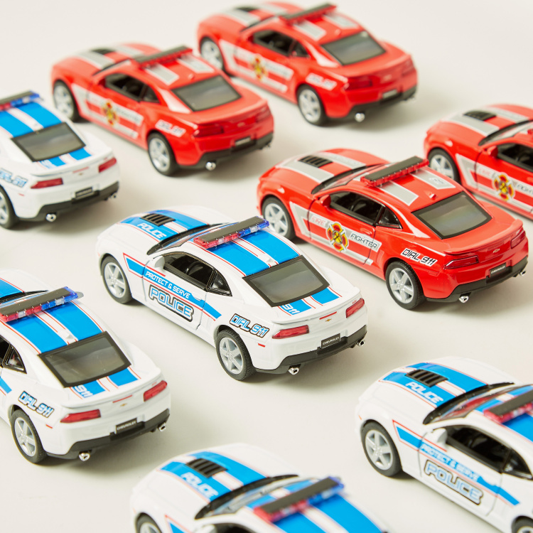 KiNSMART 2014 Chevrolet Camaro Police Toy Car