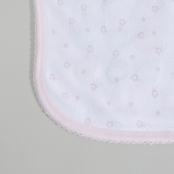 Juniors Printed Waffle Blanket with Embroidery