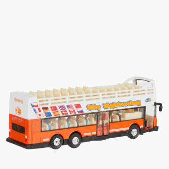 TAI TUNG Die Cast Sight Seeing Bus Toy