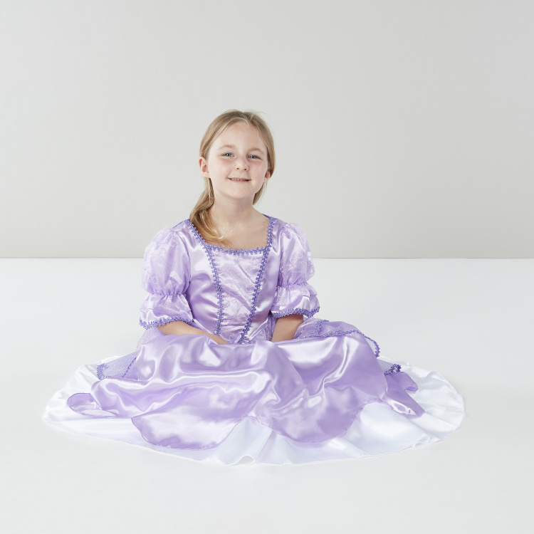 Princess Costume Dress with Puffed Sleeves