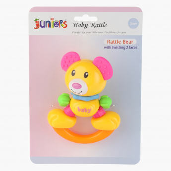 Juniors Bear Face Rattle