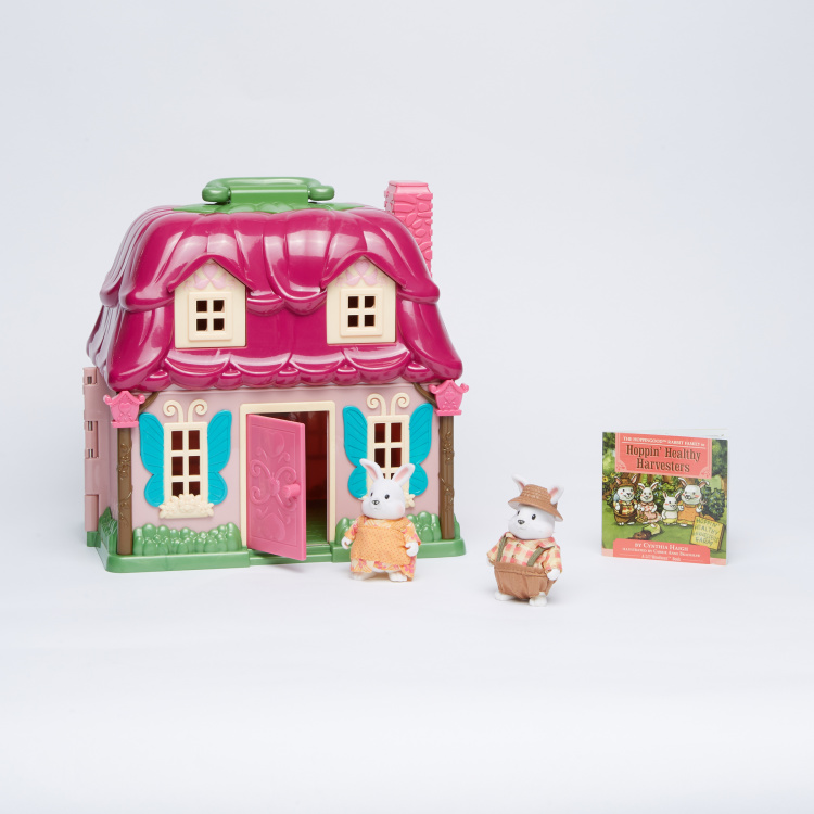 Rabbit Family Playset with Story Book