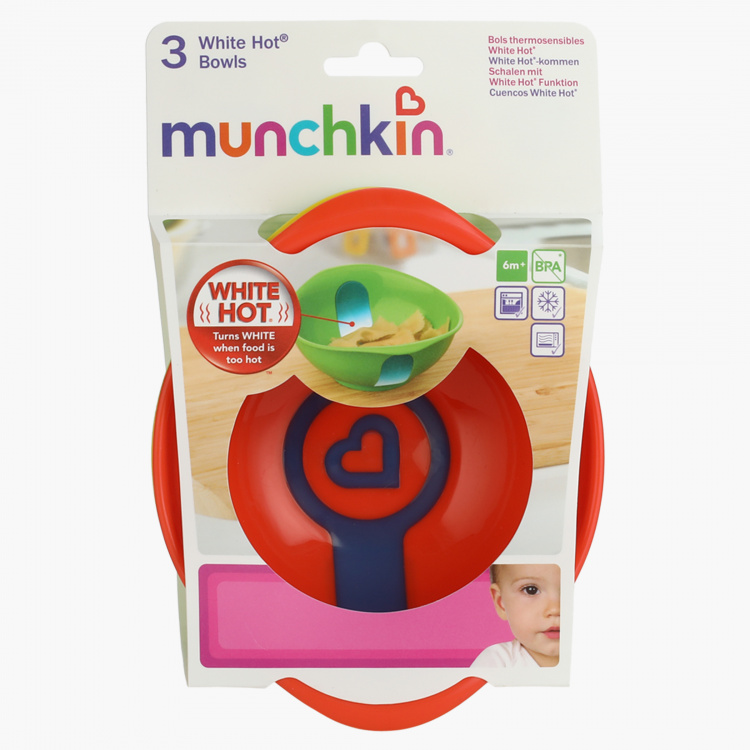Munchkin White Hot Safety Bowl - Set of 3