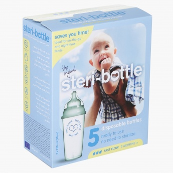 Steri-bottle Disposable Feeding Bottle - Set of 5