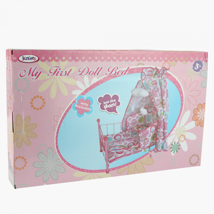 Juniors My First Doll Bed with Canopy