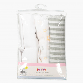 Juniors Printed Baby Wrap - Set of 3
