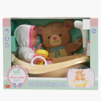 Baby Doll and Bath Accessory Playset