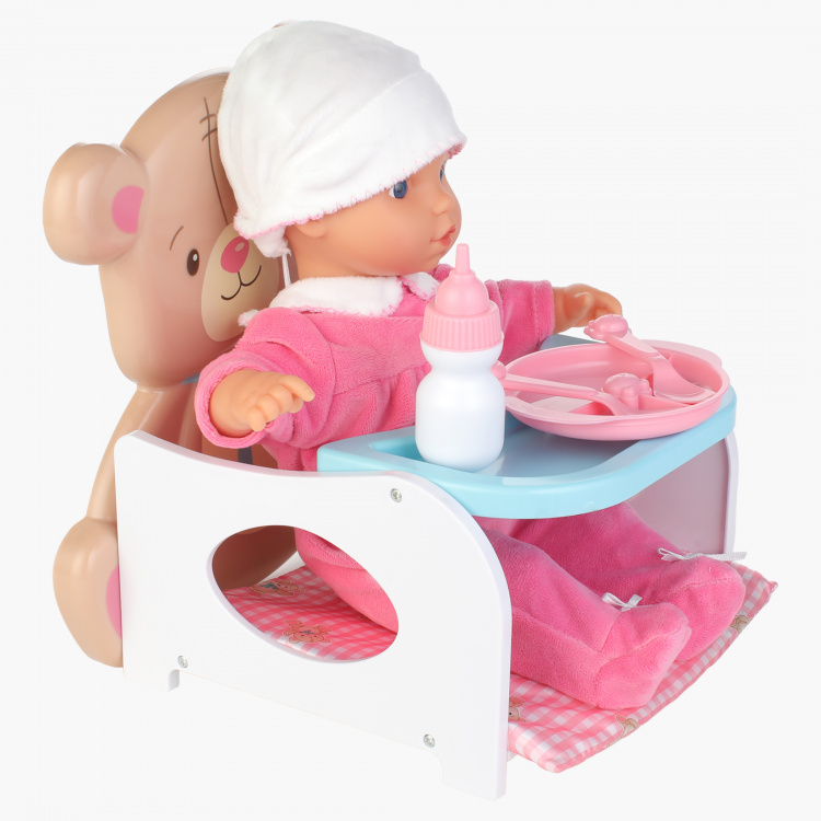 Lotus Baby Doll with Feeding Accessories