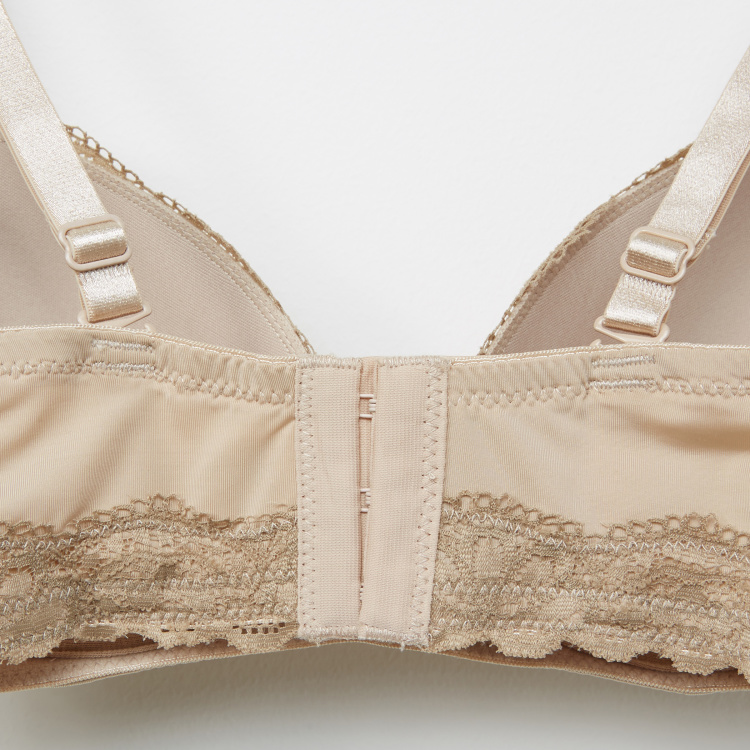 Spring Lace Detail Nursing Bra with Hook and Eye Closure - XS