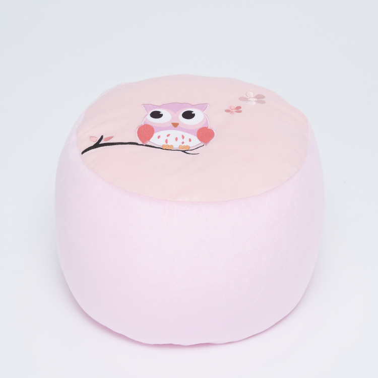 Juniors Owl Embroidered Ottoman