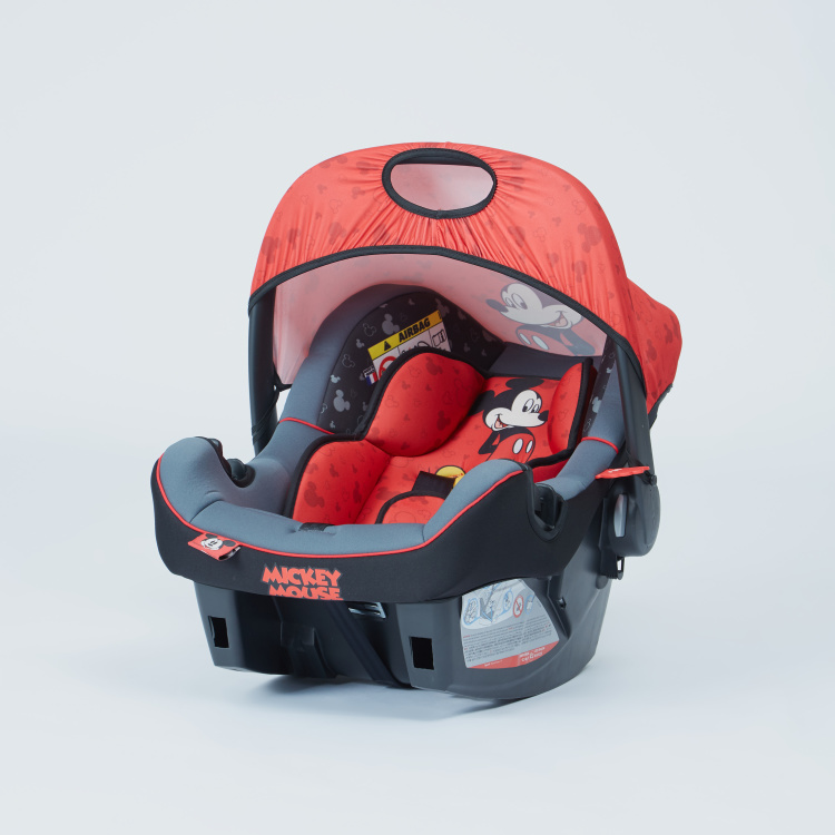 Mickey Mouse Print Beone Car Seat with Sun Canopy