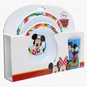 Mickey Mouse 3-Piece Printed Dinner Set