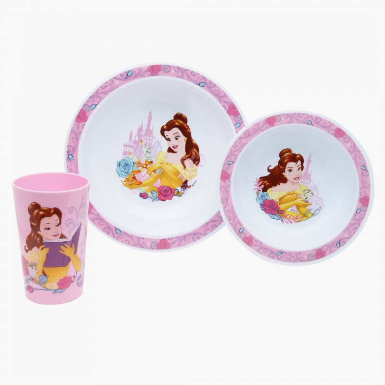 Beauty and The Beast Printed Dinner Set