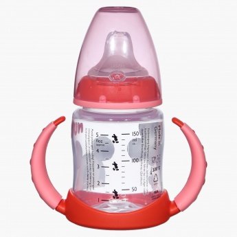 NUK Mickey Mouse Print Feeding Bottle with Handles