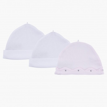 Giggles Embroidered Cap - Set of 3
