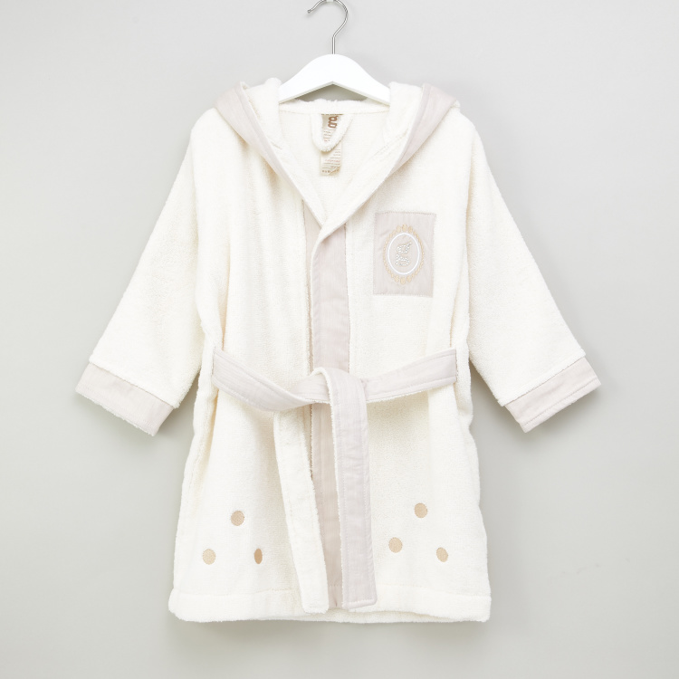 Giggles Textured Hooded Robe