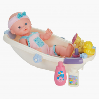 Content Toys Doll with Bathtub Playset