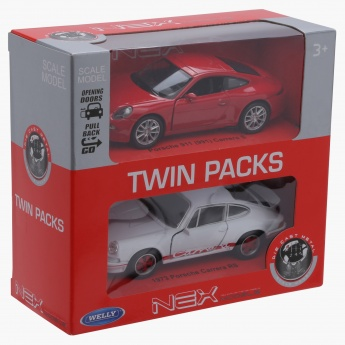 Welly Pull Back Twin Porsche Car Pack