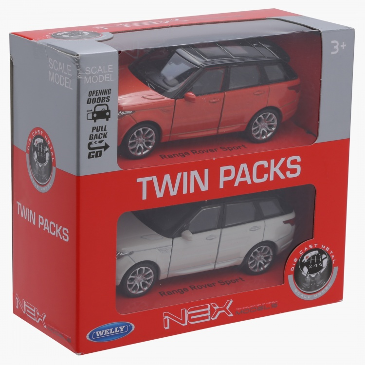 Welly Range Rover Pull Back Diecast Twin Car Set