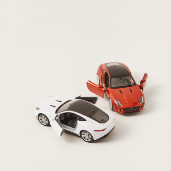 Welly Jaguar Pull Back Twin Car Set